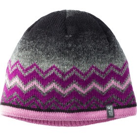 Jack Wolfskin Colorfloat Knit Cap Kids dark peony